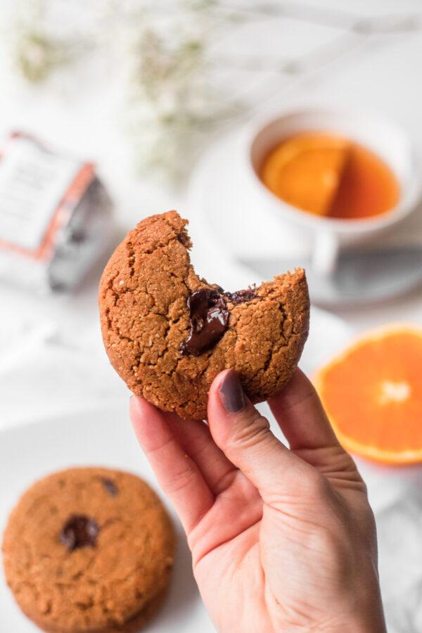 cookie de laranja